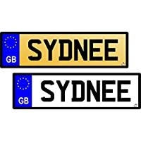 15cm x 4cm Personalised Number Plates for KIDS ride on bike, trike and ride on cars