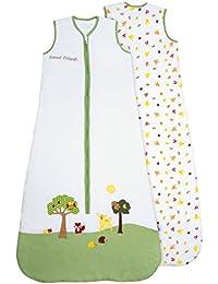 Schlummersack ungefütterter Babyschlafsack Frühjahr/Sommer 0.5 Tog für Mädchen und Jungs - in verschieden Farben und Größen erhältlich