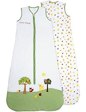 Schlummersack Babyschlafsack ganzjahres 2.5 Tog - Waldtiere - erhältlich in verschiedenen Grössen: von Geburt...