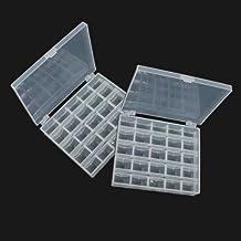 broadroot 2pcs translúcido bobinas de máquina de coser canillas vacías para funda de almacenamiento organizador