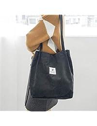 a9a146b3489c7 Never-hu Cord Umhängetasche Einkaufstasche Einkaufstasche Retro Casual  Handtaschen