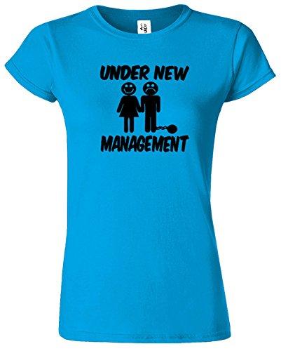 Under New Management Hirsch Nacht Hochzeit Herren T Shirt Saphir / Schwarz Design