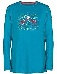 Regatta - Camiseta de manga larga modelo wilder para niños (11/12/verde azulado)