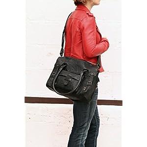 413 0SVxO8L. SS300  - LE RIVE GAUCHE M Ciruela bolso de mano de cuero de estilo vintage PAUL MARIUS