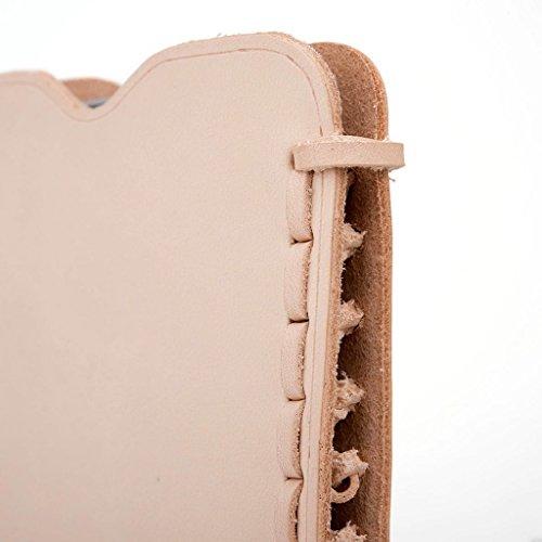 Kroo Étui ultra fin en cuir véritable pour téléphone portable Amazon Fire Phone Marron - peau Marron - peau