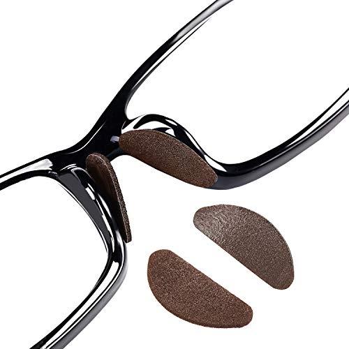 45 Paar Nasenpads Kit Selbstklebende Dünne Nasenpads Rutschfeste Weiche Schaum Nasenpads für Brillen Sonnenbrillen (Kaffee Farbe)