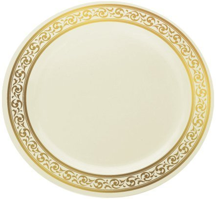 Decor Cream with Gold Rim 9