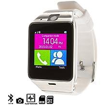 DAM - Gv 18 Smart Bluetooth Watch White/Silver