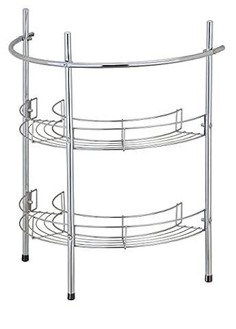 EHC Under Basin Chrome Bathroom 2 Tier Sink Storage Rack Unit Shelf & Towel Rail, Multi-Colour