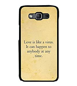 FUSON Designer Back Case Cover for Samsung Galaxy On5 (2015) :: Samsung Galaxy On 5 G500Fy (2015) (Love is like virus quotes Best love quote Love express quotes Vrus quotes)