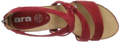 ara  Rosso, Sandales pour femme Rouge - Rot (granat 05)
