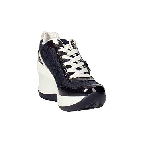 f98725f3a1bb9 Calvin Klein Jeans RE9605 Blu Sneakers Scarpe Donna Casual Sportive Zeppa