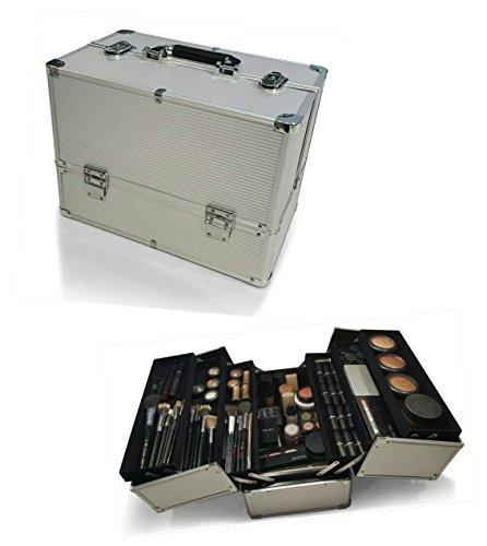 oi-labelstm-grande-argento-cromo-con-serratura-doppia-openinng-portatile-cosmetici-organizer-valiget