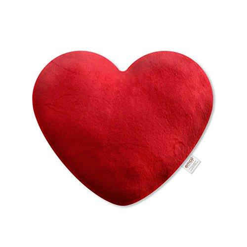 Emoji - Cojín Bordado Corazón Oficial, color rojo (PIW_RED_HEART_EB)