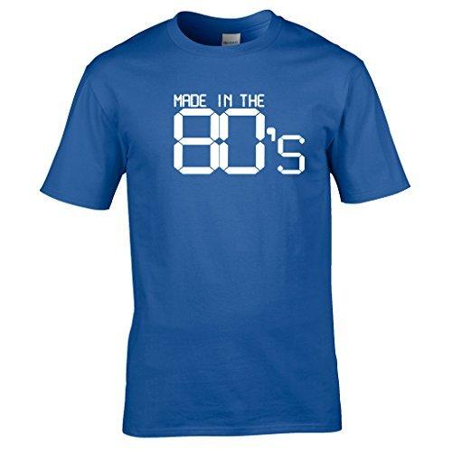 Naughtees kleidung - Made in the 80's t-shirt Großartig für retro partys, schulanfang discos oder zeigt you're stolz to be a kind von den 80's Königsblau