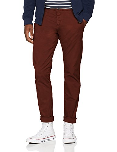 bb56bd1e21880 SELECTED HOMME Slhskinny-Luca B. Chocolate Pants W Noos, Pantaloni Uomo,  Marrone