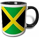 ef3d5511d85 3dRose Drapeau de la Jamaïque Square-Caribbean Jamaique Vert Jaune doré  Croix de Saint André