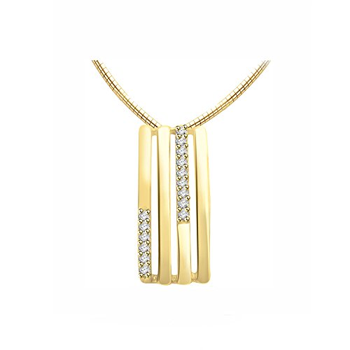 Or Jaune 9 ct Pendentifs Diamant , 0.13 Ct Diamant, GH-SI, 2.13 grammes.