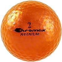 Chromax Alta Visibilidad M1X Pelotas de Golf, Pack de 6Bolas (Nueva versión), Unisex, Naranja