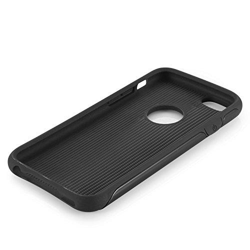 iPhone 6S Hülle, Pasonomi® iPhone 6 Hybrid Hülle Dual Layer Kratzfeste Schutzhülle Case für Apple iPhone 6/6S (4,7 Zoll) (Schwarz) Schwarz