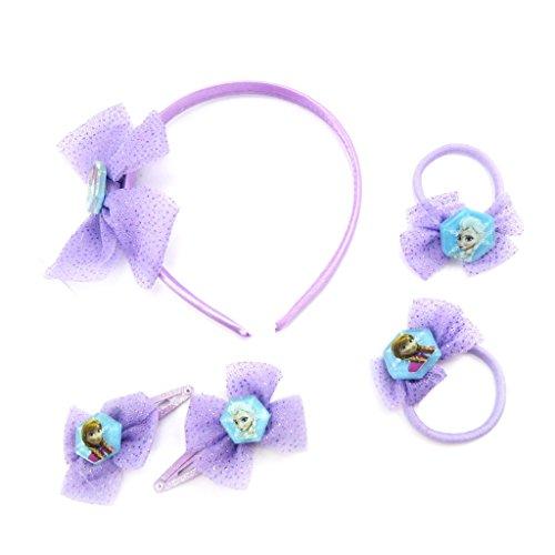 Reine des Neiges [L6911] - Set accessoires cheveux 'Frozen - Reine des Neiges' violet (5 pièces)