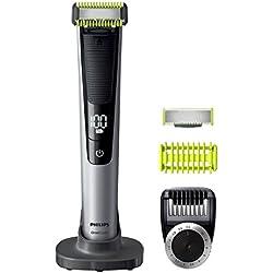 Philips Cara + Cuerpo QP6620/20 - Depiladoras para la barba (0,4 mm, 1 cm, Negro, Cal, Plata, Batería, 90 min, Ión de litio)