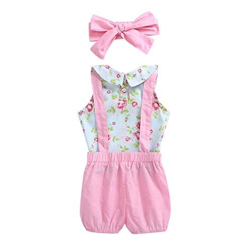 r Baby Mädchen Outfits Floral geraffte Tops + Strap Shorts Hosen Set (Gothic Mädchen Kostüm Ideen)
