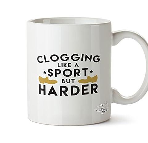 Hippowarehouse Encrassement comme un sport mais dure 283,5gram Mug Cup, Céramique, blanc, One Size (10oz)