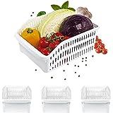Homelife - Lot de 3 Bacs de Rangement Réfrigérateur FRIMAX - Blanc pour refrigerateur Tiroir Organisateur Panier legumes Frig