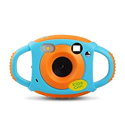 Upgrow Creative Kids Digital Camera Rechargeable Kids Cameras Mini 1.77 inch Screen HD Video Action Camera Camcorder Christmas Year Birthday Festival Toy Gift Children Boys Girls