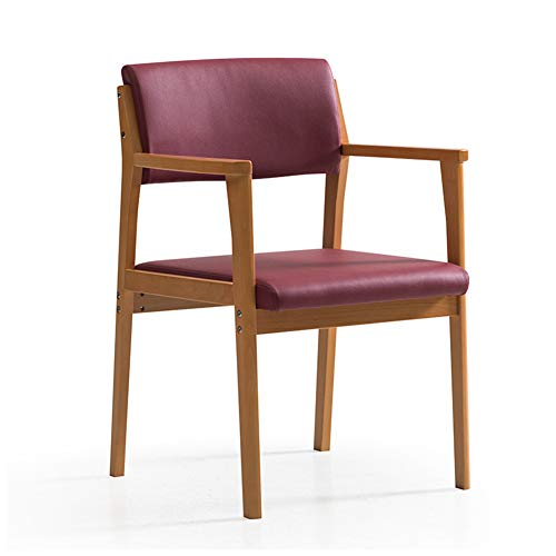 MMZZ Armlehne Esszimmerstuhl aus Massivholz, Nordic Simple Leisure Chair, Komfortable Rückenlehne, für Ankleidezimmer/Wohnzimmer/Schlafzimmer/Café/Bar - Oak Schlafzimmer-kollektion