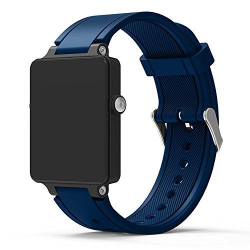 XingWangFa for Garmin Vivoactive Acetate Straps Armbands Soft Silicone Sport Armband Replacement Strap for Garmin Vivoactive Acetate SmartWatch-Midnight Blue