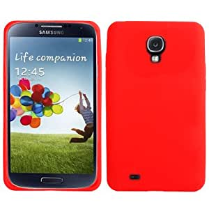 Pure Color Ultra Thin Silicone Case for Samsung Galaxy S4 i9500 in Red