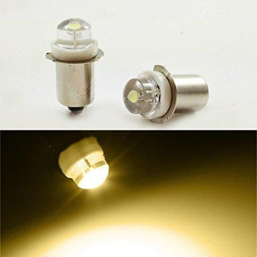 P13.5s 3V 4,5V 6V 0,5W 0,75W 4300K chaud Ampoule LED Lampe torche Phare Mini lampe frontale lampe de poche, 4 pièces, 4.5V