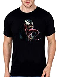 Desiways - Stylish Young And Trendy 100% Cotton Graphic Printed T-Shirt For Men Venom Real Face Design