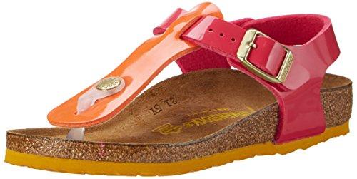 Birkenstock Kids Mädchen Kairo Riemchensandalen, Mehrfarbig (Tropical Orange Pink), 33 EU