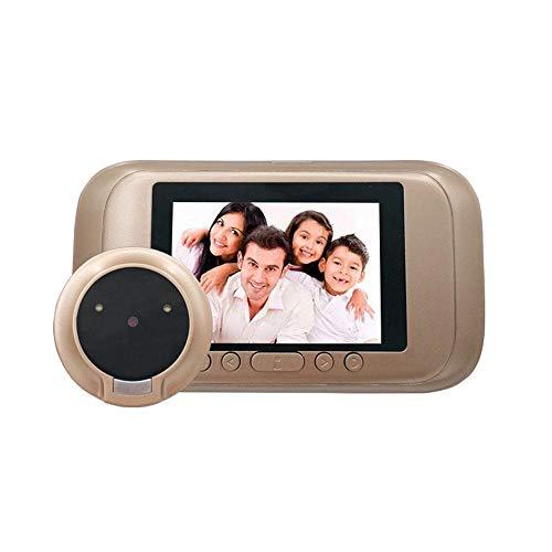 """Mirilla Eléctrico Vídeo Visión de la puerta Cámara de seguridad 720p HD Pantalla de 3.5"""" De pilas Doorcam con visión nocturna, Detección de movimiento"""