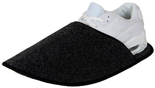Sur-chaussons dIntérieur Légers pour Chaussures pantoufles musée Anthracite éventuellement avec / sans ABS ressenti unique Anthracite
