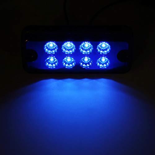 VIGORFLYRUN PARTS LTD 10x 3.8 6 LED Luce Laterale da Camion Indicatore LED Lampada di Posizione Blu per 12V Rimorchio Camion Furgone Rimorchi Auto Trattore Camper SUV
