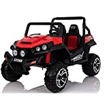 Babycoches Buggy RSX Safari 24V, 2 plazas, bluetooth, ruedas todoterreno caucho, asiento polipiel. COLOR ROJO