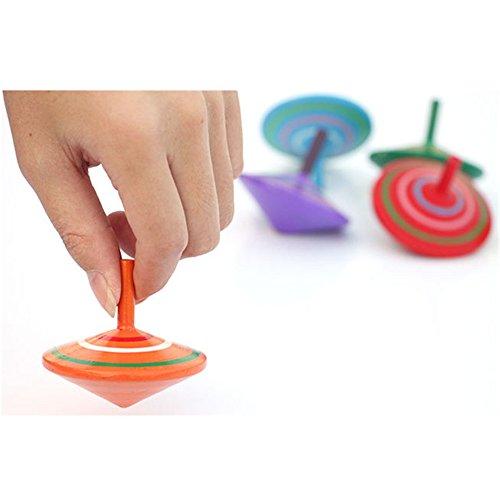 3 Stk Kreisel aus Holz,Holz kreisel Kreisel Eltern-Kind-Spielzeug für Alle Altersgruppen ,Zufällige Farbe