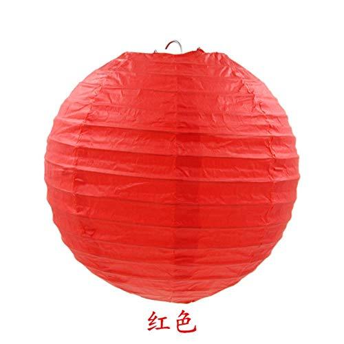 TTYAC Kaffee Chinesische Runde Papierlaterne Ballon Lampe Ball Licht Liefert Halloween Hochzeit Home Festival Dekoration Laternen, Rot, 10 Zoll 25 cm (Harley Custome Quinn)