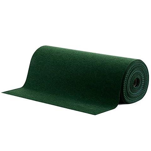 Moquette d'extérieur casa pura® verte au mètre | tailles au choix | tapis type gazon artificiel - pour jardin, terrasse, balcon etc. | revêtement de sol outdoor | 100x200cm