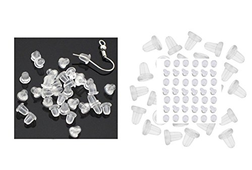 ILOVEDIY 1000pcs Rubber Earring Backs Stopper 4mm for Earring Making