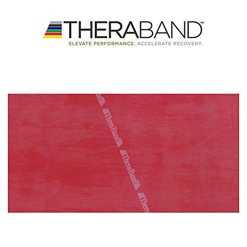 Thera-Band original Übungsband + Übungsbuch gratis ca. 3m lang (Rot)
