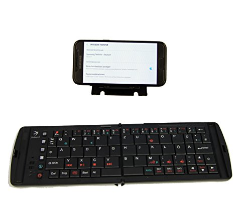 Keyboard für Samsung Galaxy S8 S8 Plus S8+ Duos Note 8 S7 S6 Galaxy A3 (alle Modelle) Galaxy A5 (alle Modelle) - Freedom Bluetooth Tastatur PRO 2 mit deutschem Layout QWERTZ mit Funktionstasten