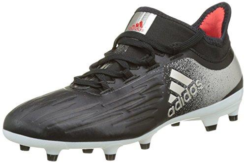 adidas X Fg, Chaussures de Football Femme Noir (Core Black / Platin Metallic / Core Red)