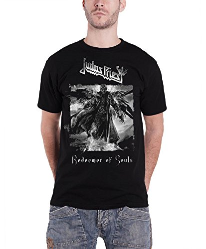 Judas Priest T Shirt Redeemer of Souls band logo Oficial de los hombres negro