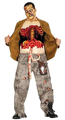 Zombie Halloween camiseta destruida con el intestino