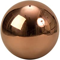 Moderna decorazioni da giardino giardino sfera marrone in acciaio inox di diametro 30 cm
